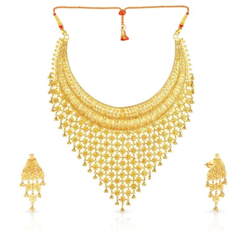 Buy Malabar Gold Necklace Set Mhaaaaawpeob For Women