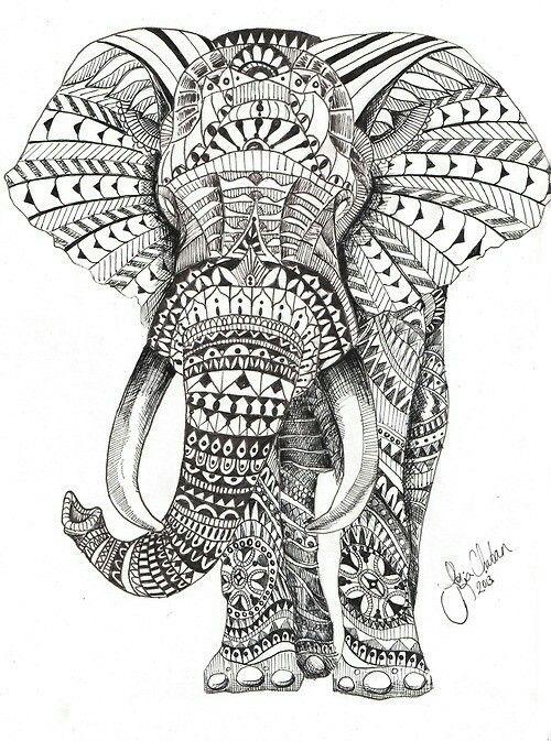 Pin By Chris Mcedward On Tattoo Mandala Elephant Tattoo Elephant Coloring Page