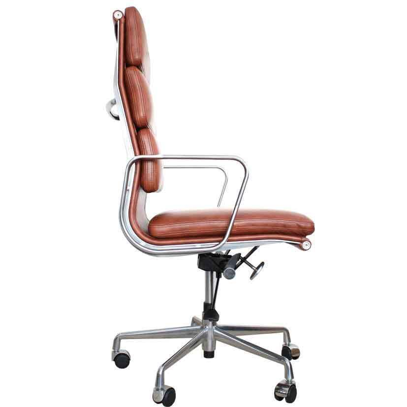 Eames Inspired Soft Pad High Back Office Chair EA219 Brown Leather