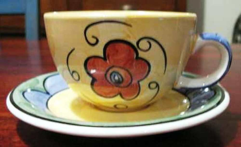 Collectible ~ Alegria by Living Art \ Living Art Dinnerware\  Cup Saucer BBPlate & Collectible ~ Alegria by Living Art \