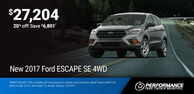 New 2017 Ford Escape Purchase A New 17 Escape At 20 Off Msrp