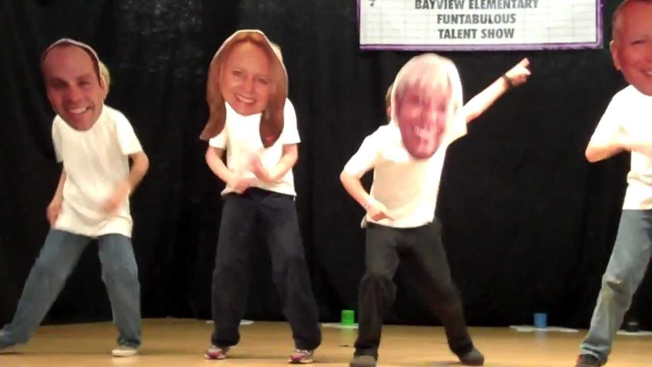 bayview elementary school talent show - dancing bobble heads | skit