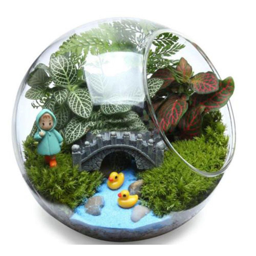 Round Globe Ball Glass Hanging Plant Terrarium Flower Vase Pot Wedding Decor New