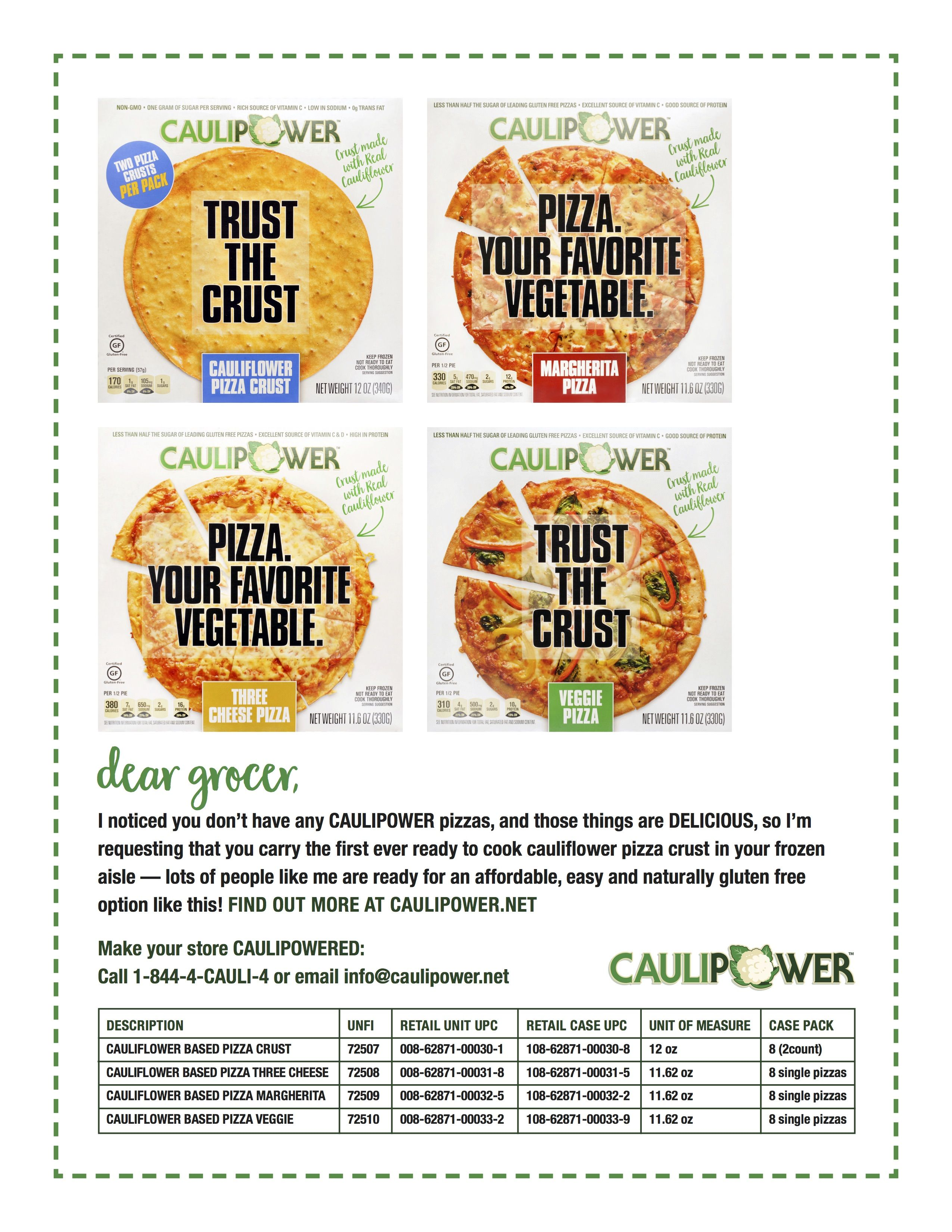 request Caulipower from your grocer