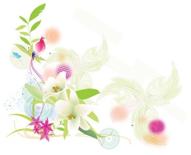 witte achtergrond tekening bloemen - photo #43