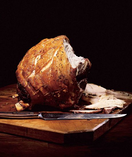 Garlic-Rosemary Roasted Picnic Ham, from Eat Like a Man, by Ryan D'Agostino. #FathersDay #recipe