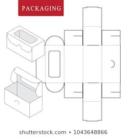Package For Bakery Vector Illustration Of Box Package Template Isolated White Retail Mock Up Box Template Box Packaging Design Bakery Packaging Design