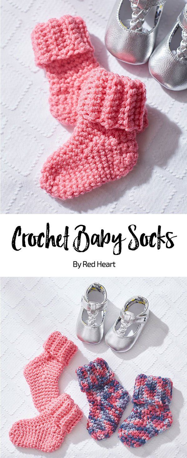 Crochet Baby Socks free crochet pattern in Baby Hugs Medium yarn ...