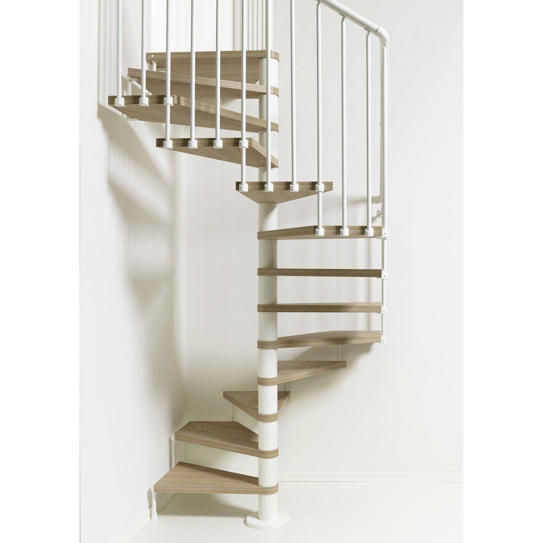 Escalier Colimacon Carre Revers Acier Blanc Cube 12 Marches Orme Clair 138 Cm Escalier En Colimacon Cubes Et Acier
