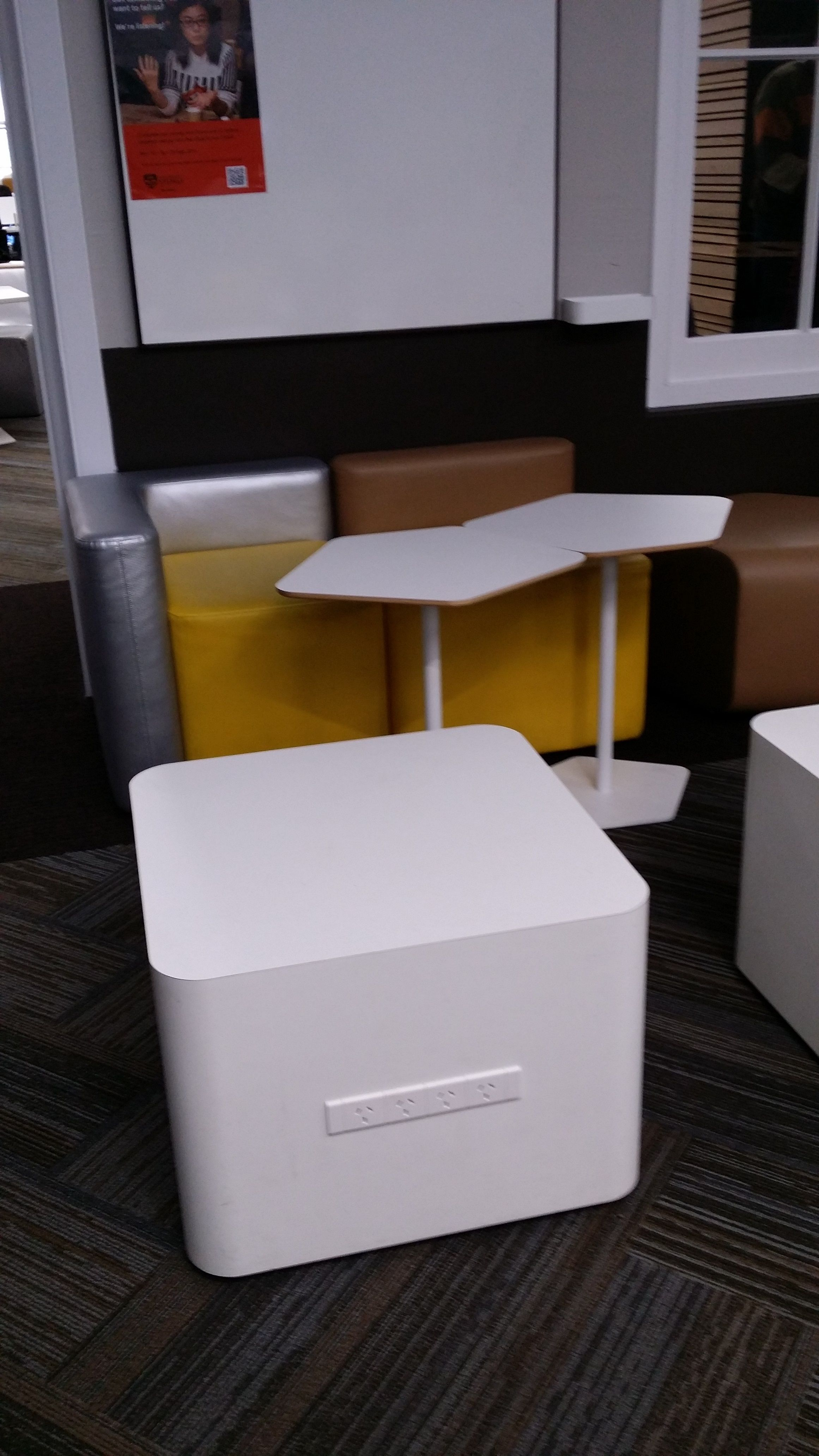 sydu fixed low table w powerpoints connecting laptop tables