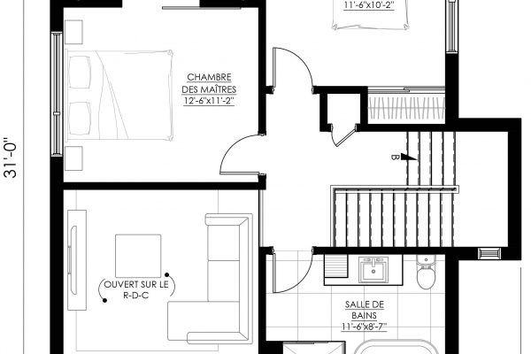 Plan de Maison Moderne Ë_144 Leguë Architecture Maisons Pinterest