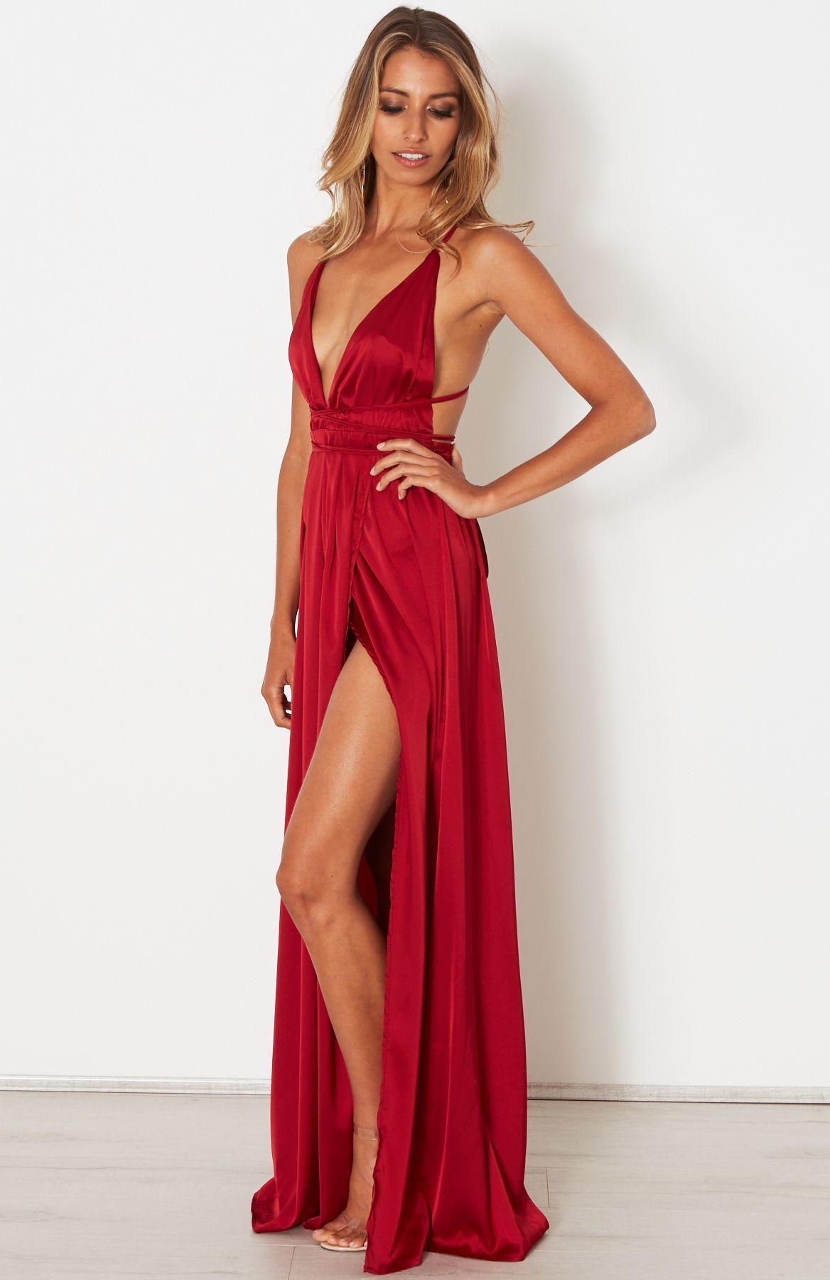 0d0fedf5eac Akela Maxi Dress Wine - Maxi Dresses - Dresses - CLOTHING