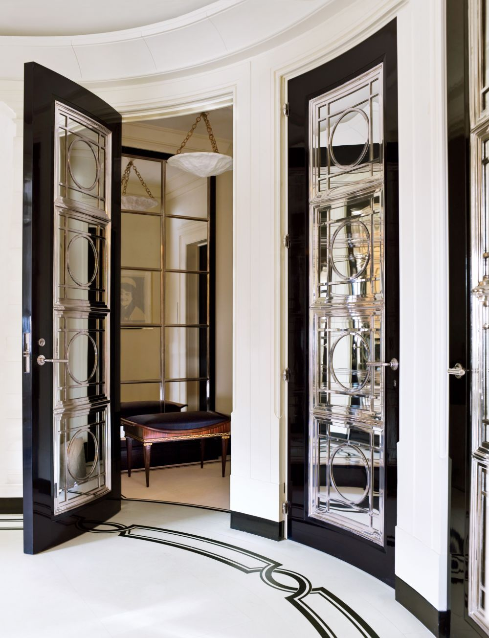 Traditional entrance hall by david kleinberg design associates and