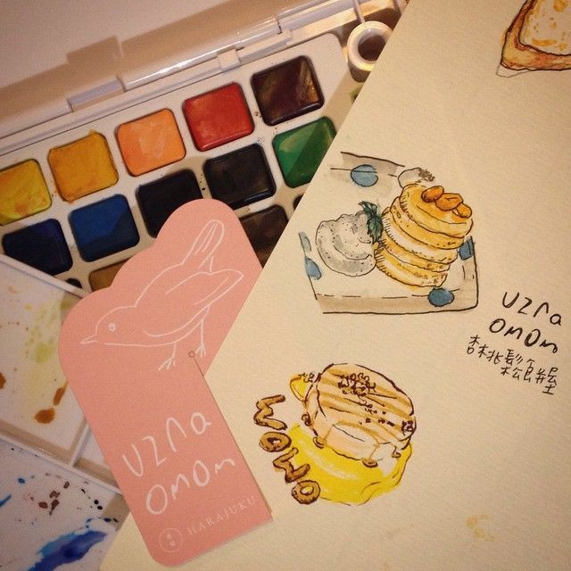 #水彩 好難  完全不適合急性子的人XD btw #pancake 好好粗 my first time to try #watercolo... | Use Instagram online! Websta is the Best Instagram Web Viewer!