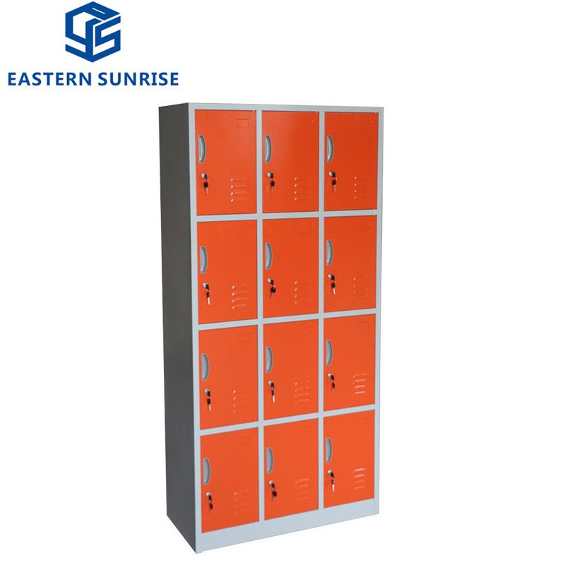 Hot Item 12 Door Compartments Steel Metal Storage Locker In 2020 Locker Storage Iron Storage Steel Wardrobe