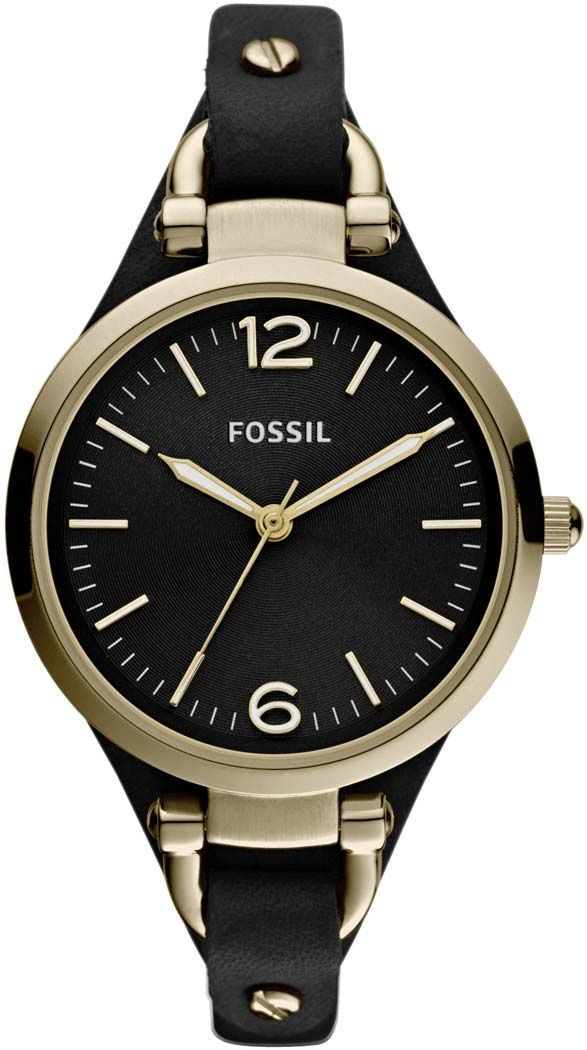Fossil damen armbanduhr xs analog quarz leder es3148