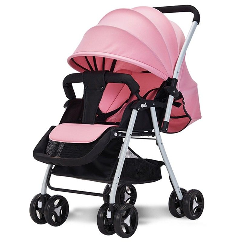 516A Twoway Sitting Reclining Stroller Pig Pink