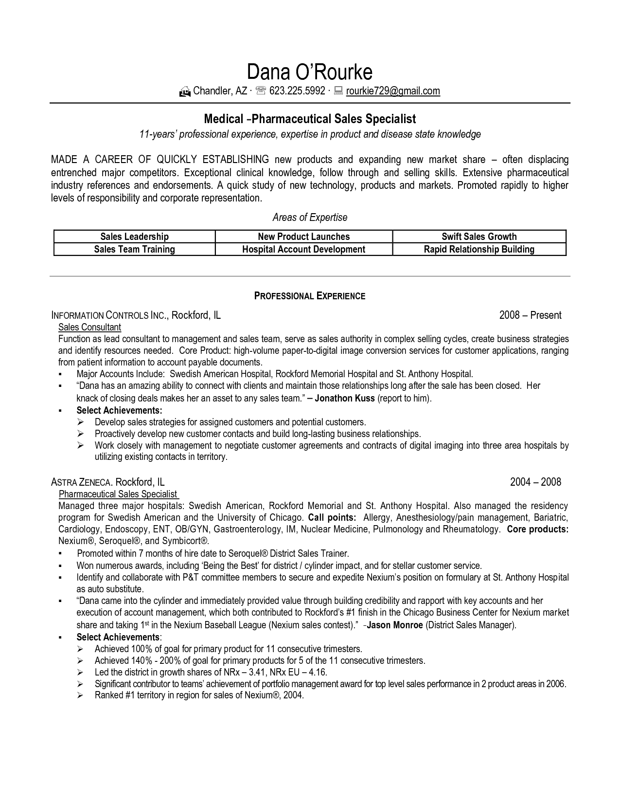 pharmacy sample resumes