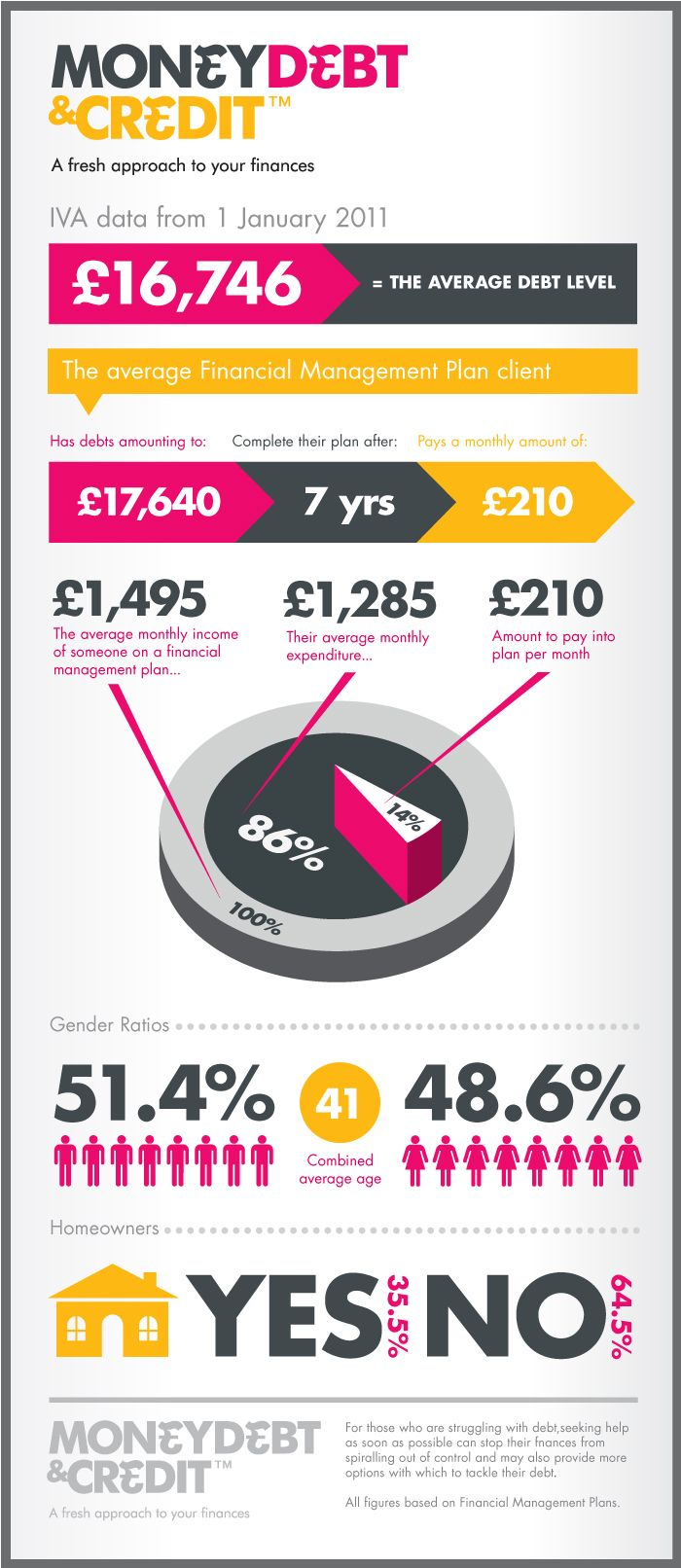 Custom made debt infographic about level of average debt and a few other interesting facts about ...