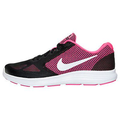 47289a4c22e9 Nike Revolution 3 Womens 819303-600 Hyper Pink Black Running Shoes Wmns  Size 8