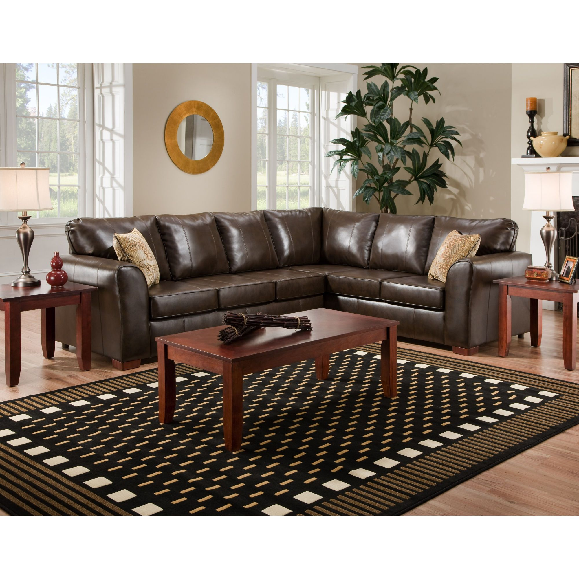 Best American Furniture Bentley Bonded Leather Sectional Sofa 400 x 300
