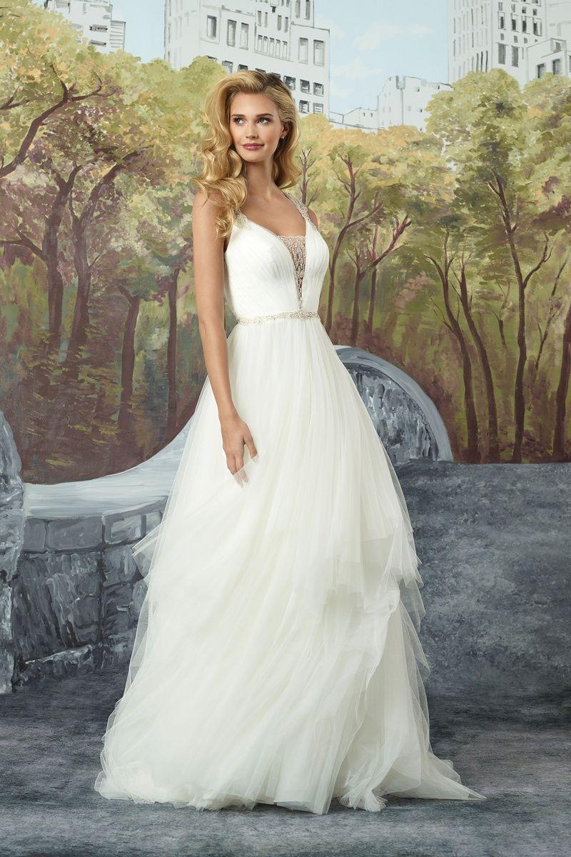 Justin alexander english net aline gown with racerback wedding