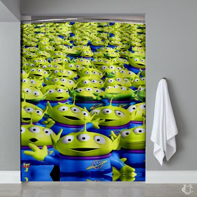 Cheap Aliens Toy Story Pixar Movie Shower Curtain Cheap Curtains