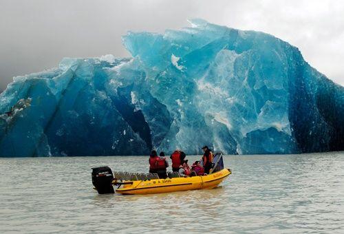 Tasman Glacier in New Zealand