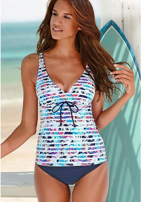 91b85093f2e50 Underwire Tankini Top, Solid Bikini Bottom from LASCANA | Fashion ...