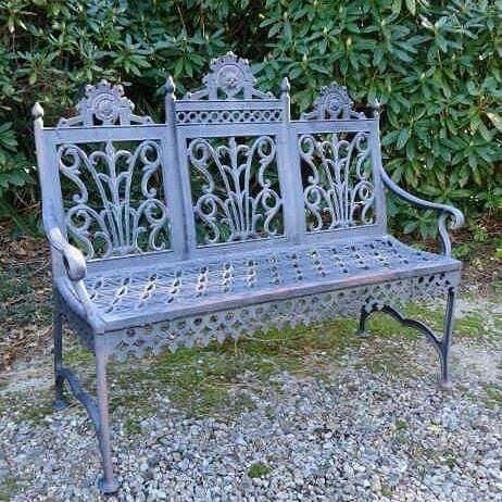 Banco De Jardim Em Ferro E Vitoriano Cast Iron Garden Bench