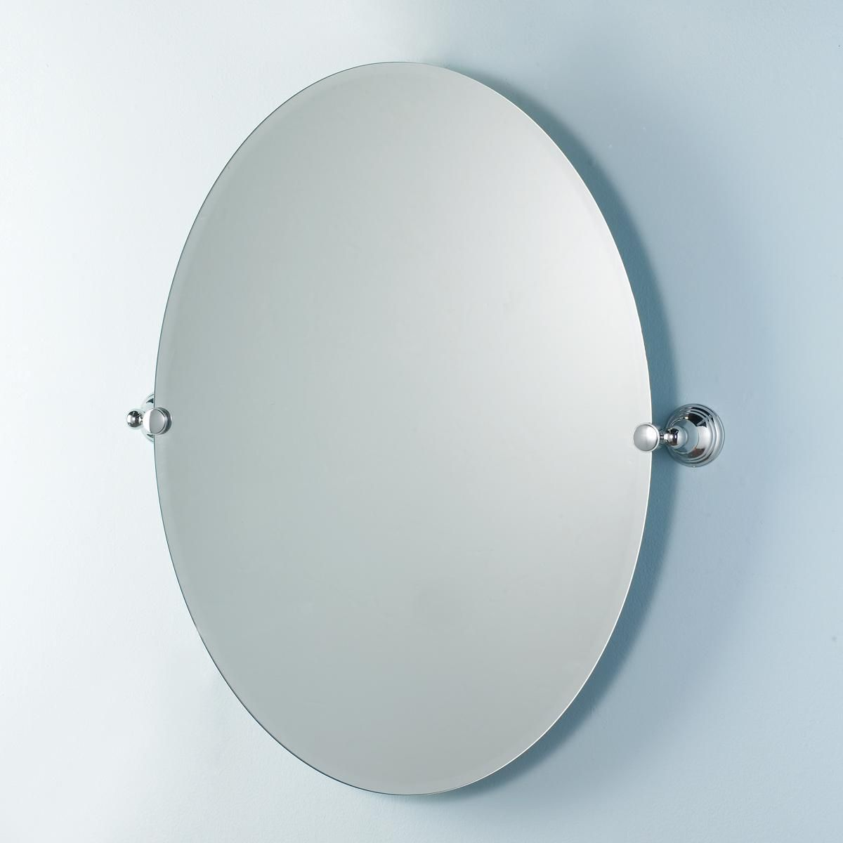Classic Grace Beveled Wall Mirror Large Oval Pivot Bathroom