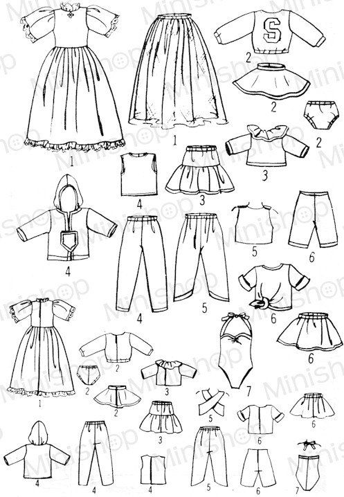 Skipper doll Sewing Pattern: 7600. Fits Blythe Kenner. by