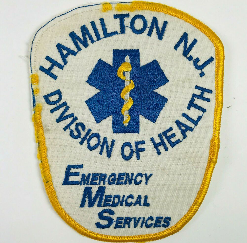 Hamilton Ems Division Of Health Mercer County New Jersey Patch In 2020 Patches Patches For Sale Mercer County