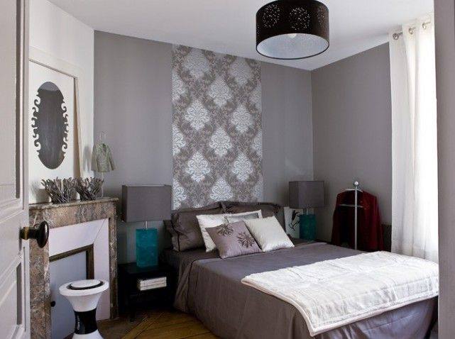 Jolie deco chambre gris blanc mauve | Bedrooms