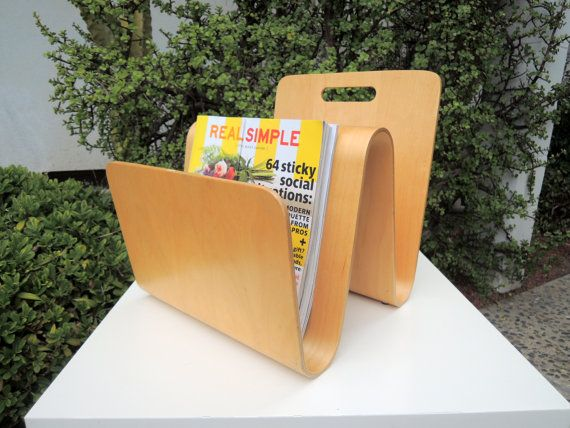 MID CENTURY MODERN Bentwood Magazine Rack Los Angeles by HouseCandyLA