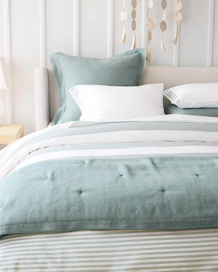 Serena Lily Serena Lilly Fouta Yarn Dyed Stripe Duvet Cover Bed Linens Luxury Striped Duvet Covers Contemporary Bed