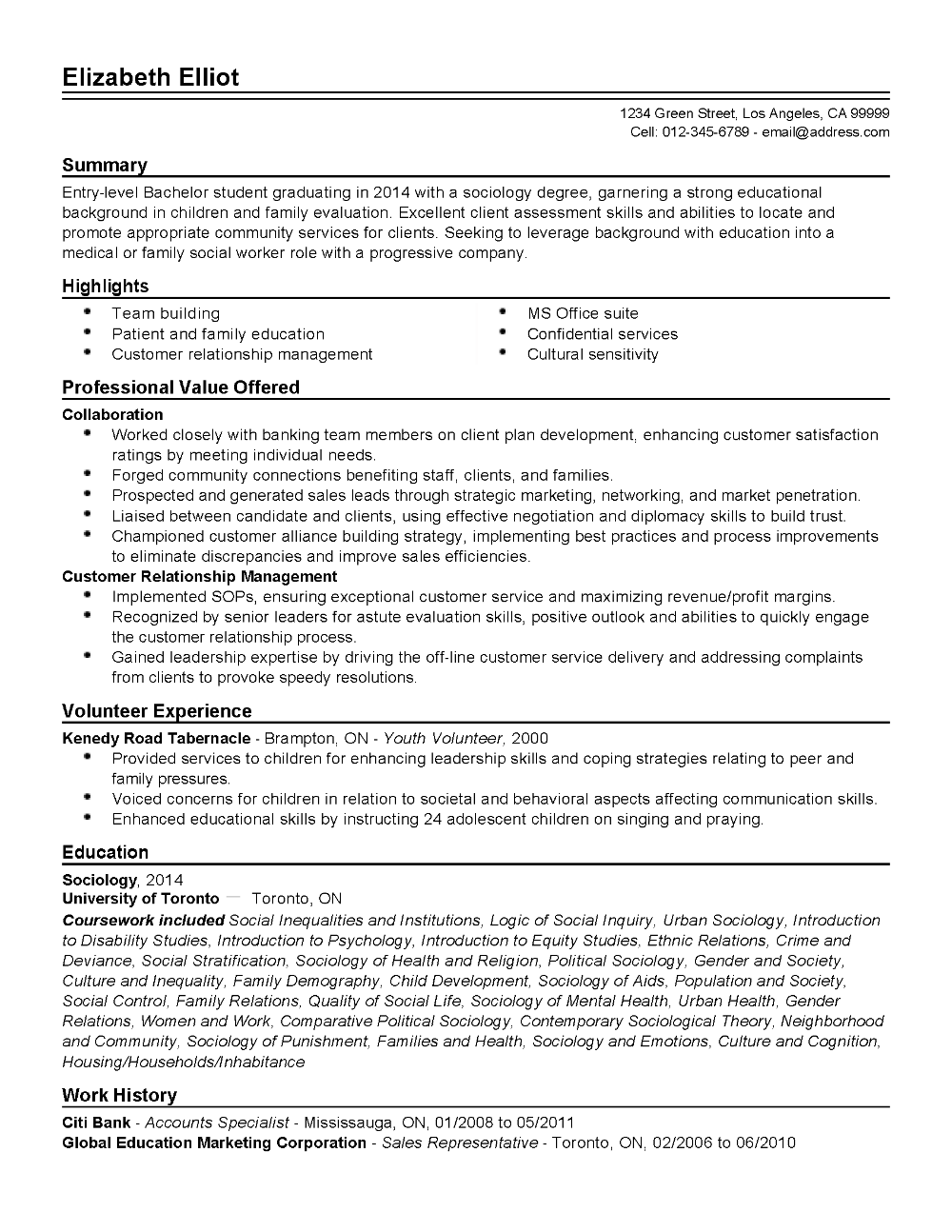 Resume Templates Social Work (7) TEMPLATES EXAMPLE