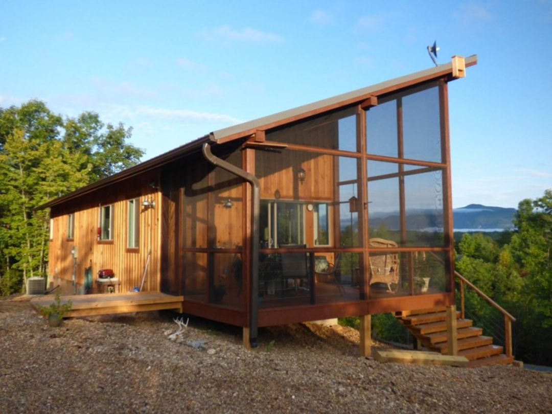 15 Awesome Tiny House Design Ideas For Your Family In 2020 Small House Swoon Small Modern Cabin Modern Tiny House
