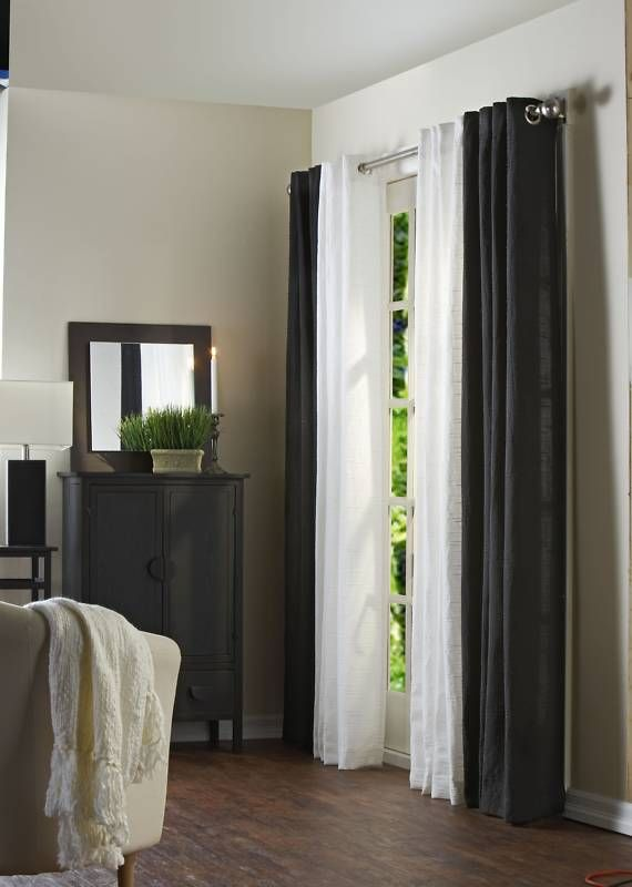 Like the white AND black curtains mixed together. | Black ...