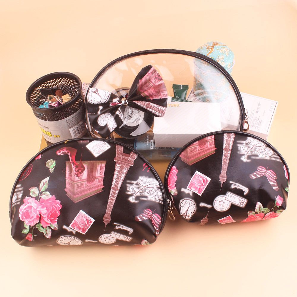 FTSTYLE Ladies New Sweet Fashion 3pcs Girls Cosmetic