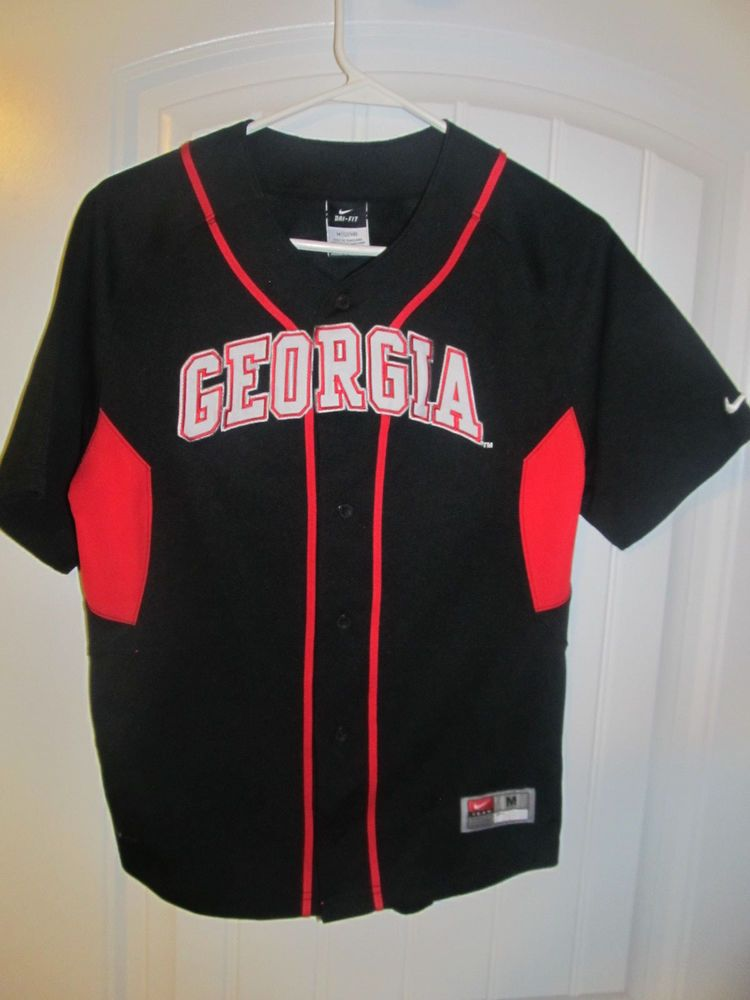 Georgia Bulldogs Black Baseball Jersey Nike Youth Medium Nike Georgiabulldogs Jersey Jacket Georgia Bulldogs Shirt Jacket