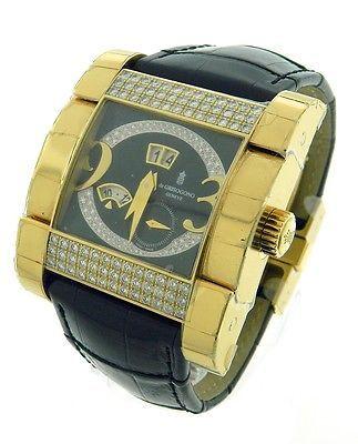 De Grisogono Instrumento Novantatre 18k RG Diamond Watch - http://designerjewelrygalleria.com/de-grisogono/de-grisogono-instrumento-novantatre-18k-rg-diamond-watch/