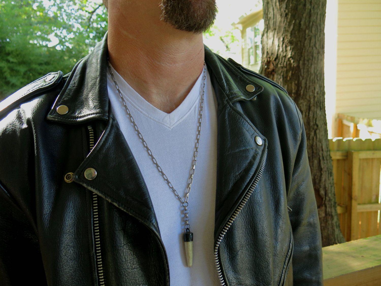 "Men's Bohemian 28"" Necklace,  Deer Antler Pendant, Gun Metal Chain, Men's Boho Gift, Fall Fashion, Rocker Statement Necklace by BohemianSageJewelry on Etsy"