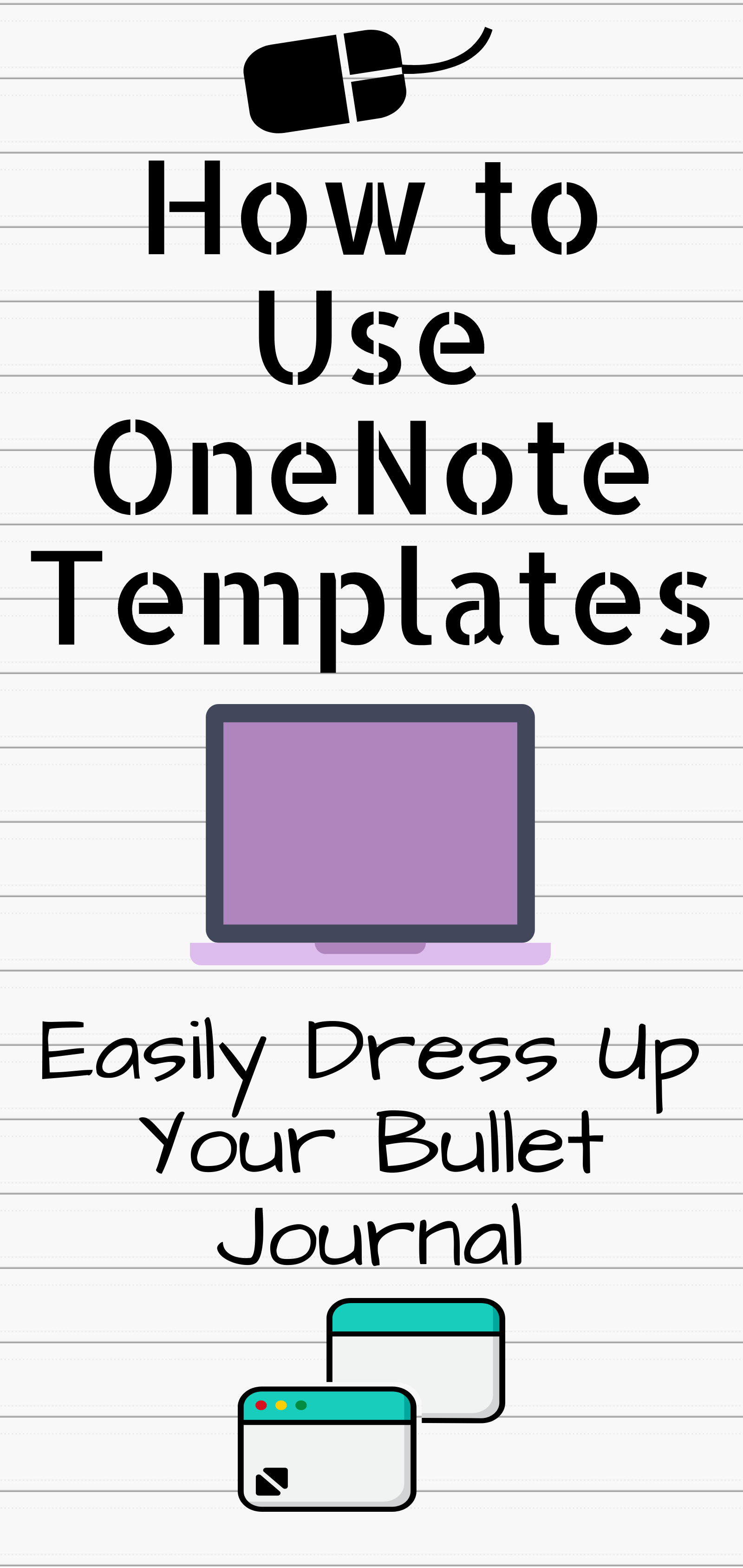 Pin by Sam Niccum on Onenote   Onenote template, Bullet journal