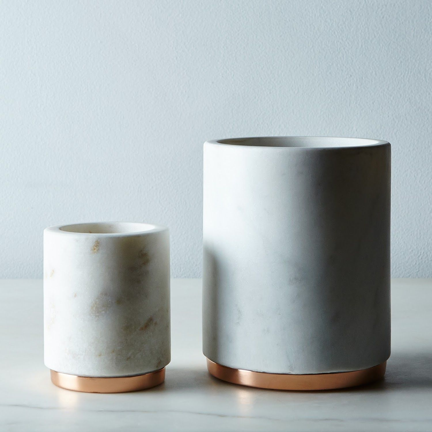Marble & Metal Canister | Marbles, Wooden tables and Minimalist