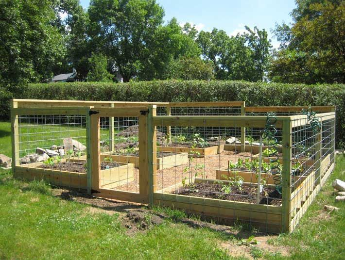 home gardening design ideas with beautiful raised bed gardening with fence and gates