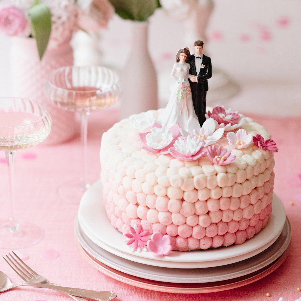 Un gâteau de mariage en dégradé | Meringue desserts