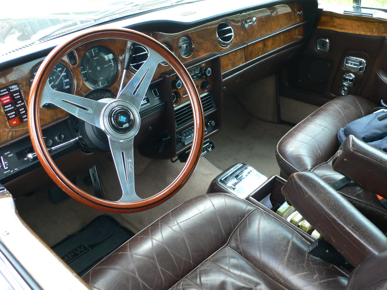 Interieur Rolls Royce Silver Shadow Coupé met Nardi stuur