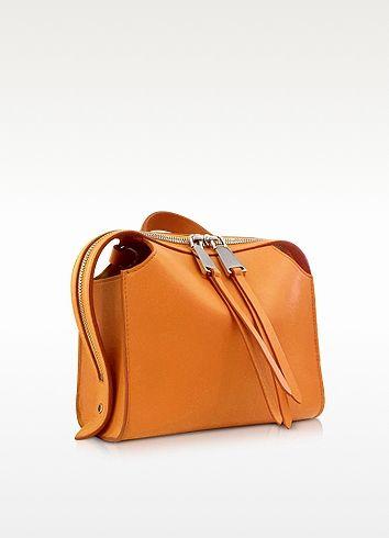 Open Orange Leather Small Clover Handbag - Jil Sander   STYLE-bag ...