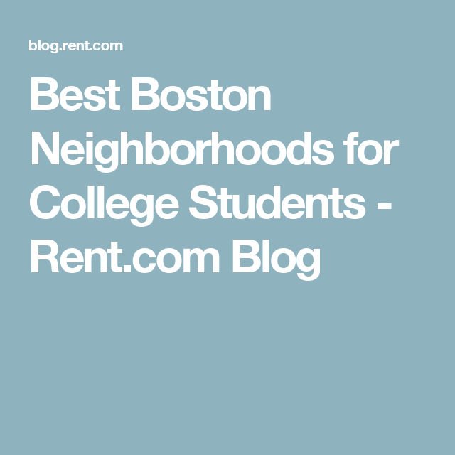 Best Apartments In Boston For College Students